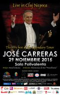 JOSE CARRERAS va sustine duminica primul si ultimul sau concert la Cluj-Napoca